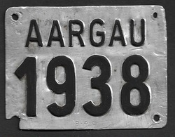Velonummer Aargau AG 38 - Plaques D'immatriculation