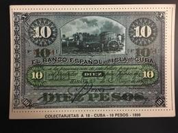 Billetes CUBA - Monedas (representaciones)
