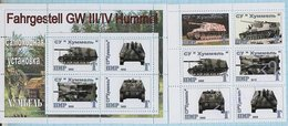 PMR.Transnistrie / Stamps / Private Issue. World War II. Military Equipment. Tanks. Germany. Third Reich 2013 - Fantasy Labels