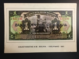 Billetes BOLIVIA - Monnaies (représentations)