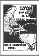 CPM 69 - Lyon - 9ème Salon De La Carte Postale - 1990 - Dessin De Jacques Lardie - Concorde - Otros