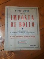1953 - NUOVE NORME SULLA IMPOSTA DI BOLLO - ECONOMIA - RAGIONERIA - LIBRO - Diritto Ed Economia