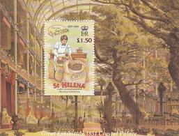 2001 St Helena Coffee Cafe Agee Of Victoria Complete Set Of 1 Souvenir Sheet MNH - Saint Helena Island