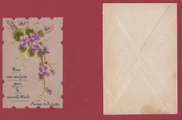 9AL1273  MIGNONETTE BONNE ANNEE CelluloÏde Peinte à La Main 1901  2 SCANS - New Year
