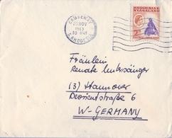 1963 , RHODESIA Y NYASALAND , SOBRE CIRCULADO CAUSEWAY - HANNOVER , COPPER MINING - Rhodesië & Nyasaland (1954-1963)
