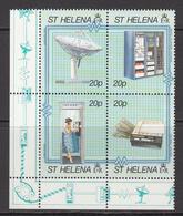 1990 St Helena Telecommunications Complete Block Of 4 MNH - Saint Helena Island