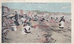 Postcard On The Beach Douglas Isle Of Man IOM PU 1906 With Birkenhead & Liverpool Cancels My Ref  B13249 - Isle Of Man