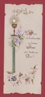 9AL1277  IMAGE PIEUSE Parchemin Peinte à La Main 1898 2 SCANS - Images Religieuses
