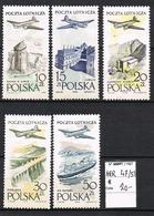 POLOGNE POSTE AERIENNE 47/51* - Airmail