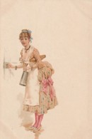 ***  Illustrateur Précurseur Mode 1900 - Servante - TTB Neuve - Mode