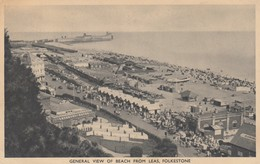 Postcard General View Of Beach From Leas Folkestone Kent PU 1933 Slogan Cancel To Gateshead My Ref  B13250 - Folkestone