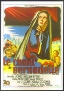 Carte Postale (cinéma Affiche Film) Le Chant De Bernadette (Jennifer Jones - Henry King) - Affiches Sur Carte