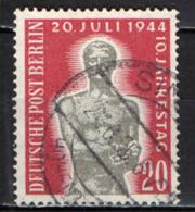 BERLINO - 1954 - 10 ANNIVERSARIO DELL'ATTENTATO DEL 20 LUGLIO 1944 - USATO - Usati