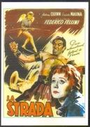 Carte Postale Illustration : Wik (cinéma Affiche Film) La Strada (Fellini - Anthony Quinn - Giulietta Masina) - Affiches Sur Carte