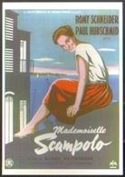 Carte Postale Illustration : Pierre Levé (cinéma Affiche Film) Mademoiselle Scampolo (Romy Schneider) - Affiches Sur Carte