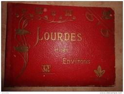 Ancien Album 20x15cm  LOURDES ET SES ENVIRONS - Avec 16 Photos -vendu En L'état !! Voir Les Photos - Reiseprospekte