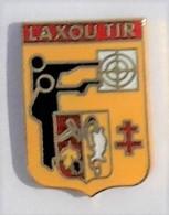 A116 Pin's CLUB TIR Pistolet Carabine LAXOU Meurthe Moselle Qualité Egf ACHAT IMMEDIAT - Tir à L'Arc