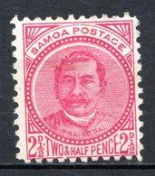 """OCEANIE - SAMOA - (Poste Locale) - 1887-99 - N° 17 - 2 1/2 P. Rose - (Effigie De """"Malietoa"""") - Samoa"""