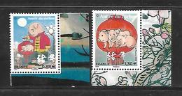 Fg184 Paire Année Du Cochon N°5296-5298 N** - Frankreich