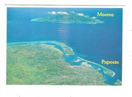 MOOREA - LA VILLE DE PAPEETE DEVANT L ILE DE MOOREA - Polinesia Francese
