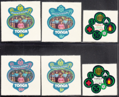 Tonga 1974 MH Sc 342-346, C159-C163, CO90-CO92 Girl Guides Of Tonga - Tonga (1970-...)