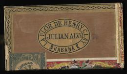 D395  Boite à Cigares En Bois Vide HABANA - Caves à Cigares Vides