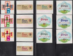 Tonga 1974 MH Sc 337-341, C154-C158, CO87-CO89 UPU Centenary - Tonga (1970-...)