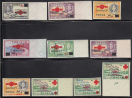 Tonga 1971 MH Sc 269-272, C87-C89, CO41-CO43 PHILATOKYO 71 Exposition - Tonga (1970-...)