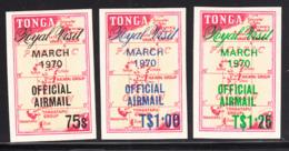 Tonga 1970 MH Sc CO31-CO33 British Royal Visit To Tonga - Tonga (1970-...)