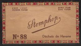 D396  Boite à Cigares En Bois Vide Stompkop - Scatola Di Sigari (vuote)
