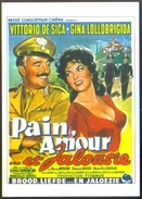 Carte Postale (cinéma Affiche Film) Pain, Amour... Et Jalousie (Comencini - Vittorio De Sica - Gina Lollobrigida) - Affiches Sur Carte