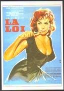 Carte Postale Illustration : Yves Thos (cinéma Affiche Film) La Loi (Gina Lollobrigida) - Affiches Sur Carte
