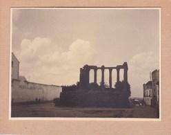 EVORA Portugal Temple De Diane Photo Amateur 1932 Format Environ 7,5 Cm Sur 5,5 Cm - Luoghi