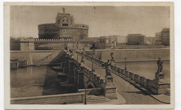 (RECTO / VERSO) ROMA - PONTE E CASTEL S. ANGELO - BEAUX TIMBRES ET FLAMME - CPA VOYAGEE - Ponts