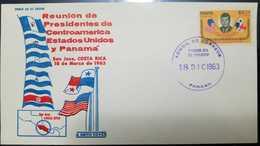 O) 1963 PANAMA, PRESIDENT JOHN F. KENNEDY - MEETING OF CENTRAL AMERICAN PRESIDENTS - SAN JOSE DE COSTA RICA, FDC X - Panama