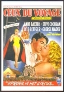 Carte Postale (cinéma Affiche Film) Ceux Du Voyage (cirque - Anne Baxter - Steve Cochran) - Affiches Sur Carte