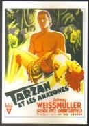 Carte Postale Illustration : Grinsson (cinéma Affiche Film) Tarzan Et Les Amazones (Johnny Weissmuller - Brenda Joyce) - Affiches Sur Carte