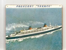 Paquebot FRANCE Dépliant PublicitaIre De 12 Photos De 1966 - Bateaux