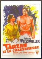 Carte Postale Ill. : Roger Soubie (cinéma Affiche Film) Tarzan Et La Chasseresse (Johnny Weissmuller - Brenda Joyce) - Affiches Sur Carte