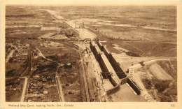 Sepia Pictorial Postcard  -Welland  Ship Canal, Looking North, Ontario.  #305  Unused - 1903-1954 Kings
