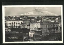 Cartolina Siracusa, Panorama Con L`Etna - Siracusa