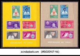 TOGO - 1961 BOY SCOUT MOVEMENT / SCOUTS - SOUVENIR SHEET MNH 2nos - Togo (1960-...)