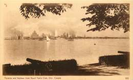 Sepia Illustrated Postcard    Toronto And Harbour  From Royal Yatch Club ON # 302   Unused - 1903-1954 Reyes