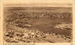Sepia Illustrated Postcard    St John Harbour And Commercial Metropolis N.B.  # 153  Unused - 1903-1954 Kings