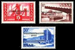 SAARLAND 1955 Nr 362-364 Postfrisch S032DE2 - 1947-56 Occupation Alliée