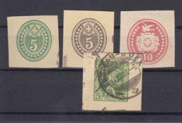 Switzerland Cut Squares - 1882-1906 Armarios, Helvetia De Pie & UPU