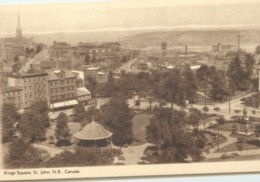 1932 Sepia View Card - Kings Square St John NB #152 Unused - 1903-1954 Reyes