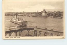 1932 Sepia View Card - Harbour St John NB # 154 Unused - 1903-1954 Rois