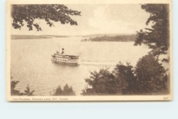 1932 Sepia View Card - Lake Rousseau, Muskaka Lakes Ont # 307 Unused - 1903-1954 Reyes