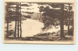1932 Sepia View Card - High Falls, Near Bracebridge Ont # 309 Unused - 1903-1954 Reyes